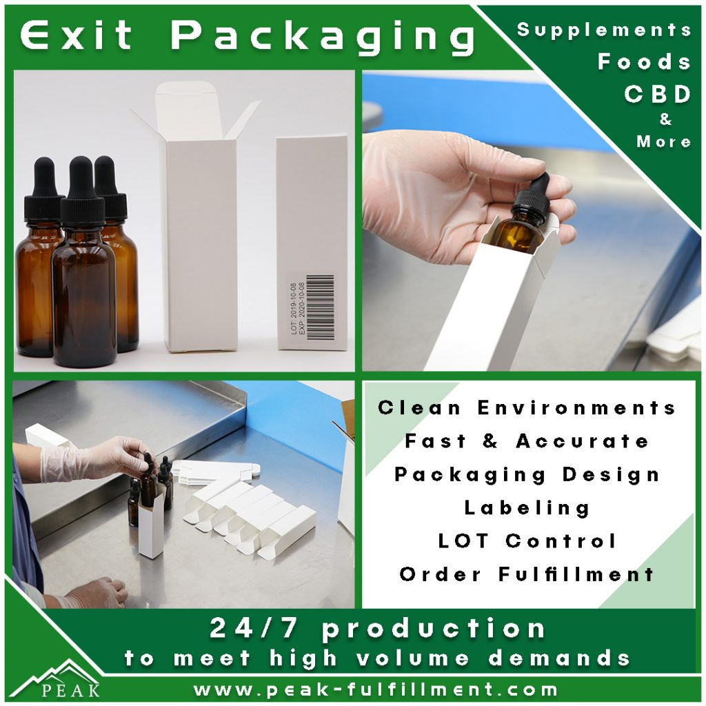 Colorado 3PL CBD Exit Packaging